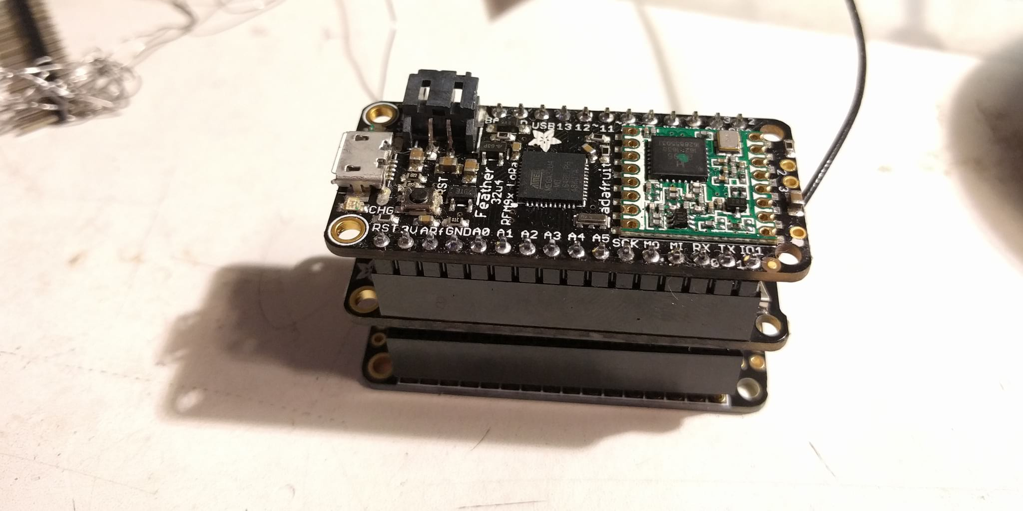 Proto board for BetaCityYEGs wireless sensor project